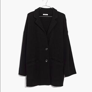 madewell blazer sweater jacket XXS BNWT